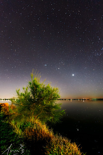 Stars over the water at Gorokan