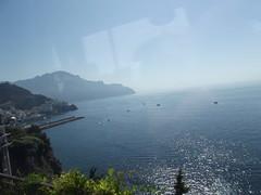 The Amalfi Coast - approaching Amalfi