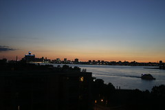 Sunset over Detroit (themactep) Tags: sunset usa ontario canada skyline river boat detroit windsor