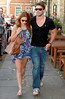 Una Healy and Ben Foden Celebrities leaving their hotel after attending the wedding of Rochelle Wiseman and Marvin Humes which took place on Friday (July 27) at Blenheim Palace England