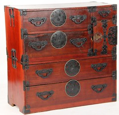 13. Asian Cabinet with Metal Mounts