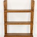 171. Oak Wall Shelf with Horse Head Embellishments