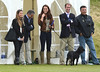 Catherine, Duchess of Cambridge aka Kate Middleton with her dog Lupo at the Golden Metropolitan Polo Club Charity Cup held at Beaufort Polo Club Tetbury, England