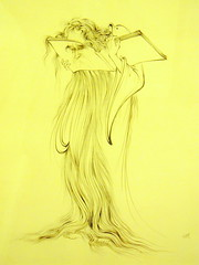 Know thyself (Germn Vogel) Tags: art yellow museum sketch asia iran drawing middleeast learning knowledge wisdom tehran saadabad mahmoudfarshchian islamicrepublic westasia gettyimagesmiddleeast