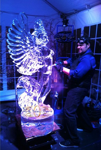 Max at Winged Justice Ice Sculpture Demo