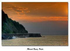 Donostia - Puesta del sol en la desembocadura del Urumea (Galera de Manuel Rguez. Prieto) Tags: nikon puestadesol sansebastian hdr donostia desembocadura paseonuevo urgul