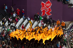 heat (Dean Ayres) Tags: england fire athletics unitedkingdom olympics olympicstadium cauldron olympicpark stratford olympicgames london2012