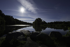 """Rising"" (olevikshaaland) Tags: morning reflection sunrise river nikon estonia d5  pirita"