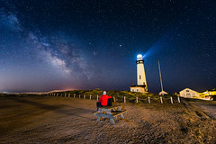 Let There Be Light (Wilson Lam {WLQ}) Tags: milkyway pigeon point lighthouse pescadero