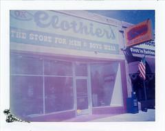 Santa Rosa, NM (moominsean) Tags: polaroid 190 instant type681 expired062000 newmexico santarosa southwest ok boys mens clothing levis downtown