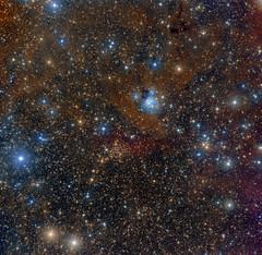 NGC7129 and friends (Roberto Colombari) Tags: stars sky cepheus nebula nebulae deepsky astrofotografia astrophotography tenerife cosmo astrometrydotnet:id=nova1672332 astrometrydotnet:status=solved