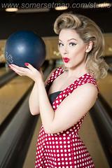 Somersetman8017-2 (somersetman) Tags: modelheatherv thelanes bristol ball vintage pinup bowling bowlingalley
