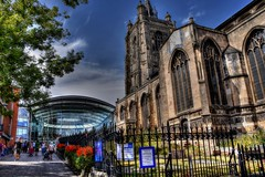 Norwich (Steve.T.) Tags: norwich norfolk theforum thenorwichforum architecture stpetermancroftchurch afinecity cityscape urban nikon d7200 sigma18200 streetscene streetphotography church glassbuilding eastanglia eastofengland