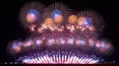 Wide Star Mine (peaceful-jp-scenery) Tags: fireworks display summer festival starmine yamagata akagawa tsuruoka         sony 7r a7r ilce7r amount sal1635z variosonnart1635mmf28zassm carlzeiss laea4