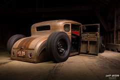Just laying around (Cody Waters Photography) Tags: automotive automobile car cars ford modela airride bagged custom handbuilt lighting lightpainting coveredbridge night vehicle
