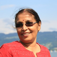 My Mother (Debarshi Ray) Tags: lake constance blue sky water germany mother lady female woman smile sunglasses elegant beautiful red hair black brown bindi parent