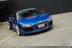 Spyder (Andre.Siloto) Tags: audi r8 v10 spyder blue azul ctbaexotics exoitc car curitiba ctba cwb paraná pr brasil brazil bra br nikon d3200