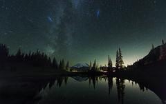 Tisoo Lake at Night (Mt Rainier NP, WA) (Sveta Imnadze.) Tags: nature landscape stars starrysky milkyway andromedagalexy nightphotography tipsoolake mtrainiernp wa