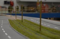 Rasengleisabschnitt auf der Modellbahn (Leo Papic) Tags: rasengleis rasen strasse strase münchen munich 2016 deutschland germany fürstenrieder tram westtangente linie 19 20 38 29 mvg museum sfm fmtm