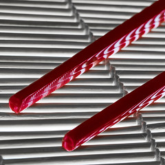 Zebra Striped Chop Sticks (fstop186) Tags: zebra striped chop sticks chopsticks stripes lines curves shadows diagonals macro bokeh depthoffield red colourpop colour pop china chinese