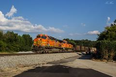 NS 733 at Dallas (travisnewman100) Tags: norfolk southern train railroad freight unit coal bnsf ac44cw h2 dallas georgia atlanta north district scherer