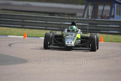 Zane Goddard in British F4 at Rockingham, August 2016