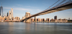 One World Trade Center & Brooklyn Bridge (Warbey (Insta @Warbey)) Tags: nyc new york city newyork river east manhattan brooklyn bridge world trade centre america usa united states financial district architecture panorama panoramic