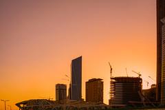 Beautiful Riyadh II Aug-18-15 (Bader Alotaby) Tags: nikon d7100 riyadh skyscraper skyline cityscape nightscape ruh photography ksa gcc art architecture leed kafd sunset blue hour amazing 18200 1116 sigma samyang 8mm tokina supertall megatall cma hok kkia dxb dubai uae doh doha qatar bahrain manamah burj khalifah downtown city center modern rafal kempinski hotel flamingo sculpture chicago illinois usa travel summer loop central cta ord ny jfk kfnl kapsarc