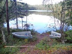 symbolic (Lalallallala) Tags: suomi finland espoo forest boat rowingboat lake krlampi