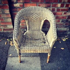 Caned (peterphotographic) Tags: apple iphone 6s square e17 eastlondon london walthamstow england uk britain lostfurniture seat chair caned cane rattan abandoned old
