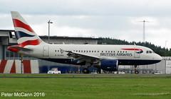 G-EUNA A318 Glasgow July 2016 (pmccann54) Tags: geuna airbusa318 britishairways