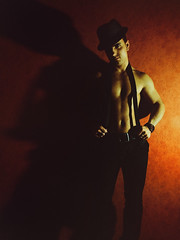red wall (Vitor Pina) Tags: scenes moments momentos minimal man men contrast candid light shadows photography people portraits pessoas