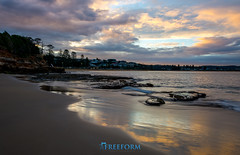 Terrigal NSW Australia (TMCiantar) Tags: terrigal nsw australia landscape ocean sea rocks travel camera photography reflections happy sunset nikon dslr mynikonlife love mood clouds cloud emotion raw