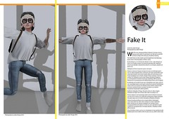 Fake It (Jdn) Tags: fashion style clothing mesh fake it second life new stuff flite socks fatewear aitui meshproject elua blonde boy guy man male jeans ripped ears gauges nerd