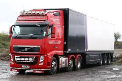 Volvo FH YJ12 MJF (gylesnikki) Tags: red truck artic thehollies rileybrothers