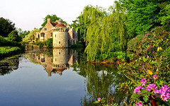 Scotney Castle Landscape Gardens, Kent, England | View of medieval castle and reflection in lake (9 of 16) (ukgardenphotos) Tags: uk wallpaper england reflection castle english gardens reflections garden geotagged kent ruins azaleas calendar screensaver reflected f80 moat nationaltrust picturesque tranquil provia100f scotney rhododendrons nationaltrustgardens vibrantcolors oldcastle castleruins moatedcastle scotneycastle historicgarden castlegardens ruinedcastle picturepostcard lamberhurst wetreflections landscapegardens lakereflections medievalcastle scotneycastlegardens colorfulreflections englishcastle romanticruins awesomecolors romanticgarden lakesidereflections geo:country=england quarrygardens bestcastle geo:city=tunbridge geo:zip=tn38jn geo:lat=51091263 geo:lon=0411771