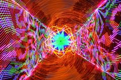 "Putting the ""mental"" in ""experimental"" (quornflake) Tags: longexposure orange lightpainting wool night fire weird woods random lighttrails trippy lenscap sparks cathodes digitallightwand"