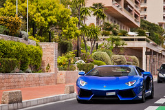 Blue (Lambo8) Tags: blue italy car canon eos photo italia monaco mc coche mk2 5d 24 24mm 105 lamborghini supercar rocher italie mk bleue mkii 24105 105mm mark2 24105mm principaut hypercar worldcars aventador