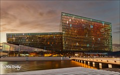 Harpa (Mike Ridley.) Tags: sunset colour golden evening iceland sundown reykjavik harpa leefilters mikeridley fellwalker1 harpaconcerthall