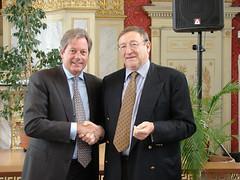 De voorzitters van Jan Palfijn en Maria Middelares - Geert Versnick en Paul Meganck