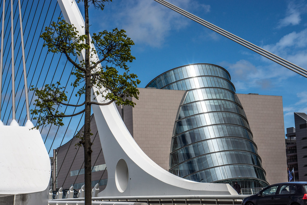 Samuel Beckett Bridge Plus The Convention Centre (Dublin Docklands)