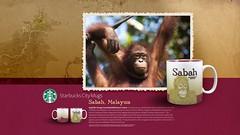 Starbucks City Mug Sabah Desktop Wallpaper (Magic Ketchup) Tags: collection starbucks malaysia mug sabah desktopwallpaper citymugs 2008series