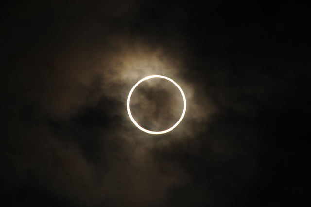 An annular eclipse of the SUN!!!!  2012/05/21/07:34
