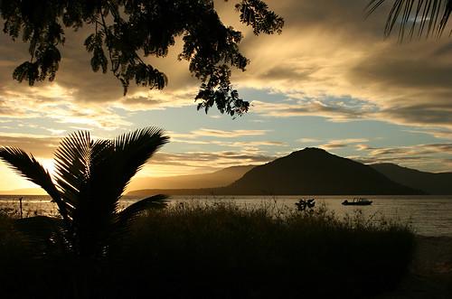 Sunrise on Pantar island