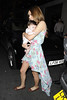 Una Healy carrying her daughter Aoife Belle Foden leaves the May Fair hotel London, England