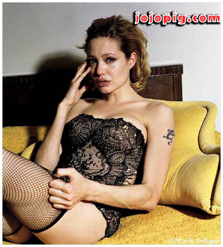 Angelina jolie sexy in lingerie can