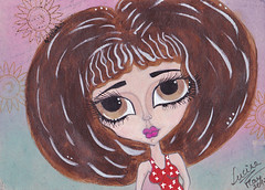 Big eyed girl (yaeshona) Tags: girls art big mixed media pages journal eyed 5x7pages