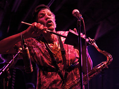 Charles Neville on cowbell at Tip's