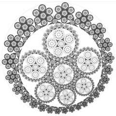 Steiner+Apollonius Circle Packing (fdecomite) Tags: circle geometry packing chain math inversion gasket steiner tangency apollonian apollonius porism