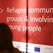 EU Resettlement Skills Share Day: The 'Refugee community group & involving young people' stand at the Market Place